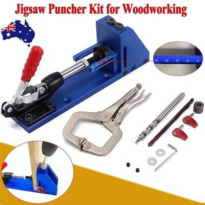 Pocket Hole Jig System Kit Woodworking Tool for Screw Drill Portable Carpenter