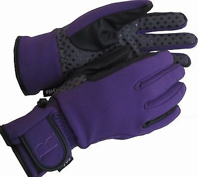 Ryda Ladies Softshell Waterproof Fully Lined Yard Gloves Winter Horse Riding
