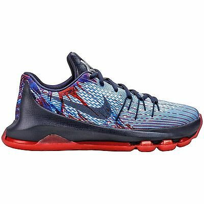 New Nike KD 8 GS Youth Basketball Shoes Boys Big Kids Red White Blue 4th of July