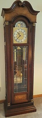 Howard Miller grandfather clock circa 1982 model 610-157 with papers