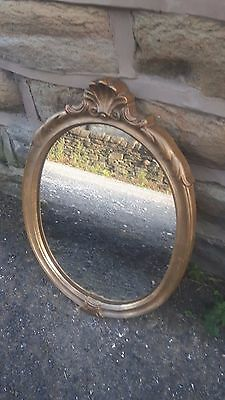 Vintage Wall Hanging French Style Mirror Gilt Gold Golden Oval Debenhams