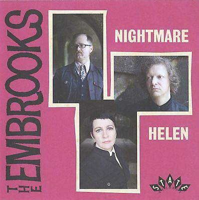 "THE EMBROOKS Nightmare YELLOW vinyl 7"" NEW garage freakbeat Mod psych"