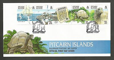 Pitcairn Islands 2000 Galapagos Tortoise Fdc Sg,560-563 Lot 4586A