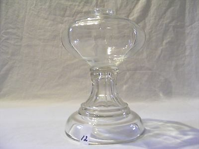 (12) Clear Glass 8 Sided Oil Lamp - No Collar, Burner Or Globe