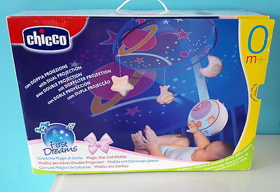 Chicco First Dreams - Mobile des rêves double projections - Rose