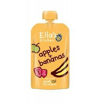Organic+Vegan, Ella's Kitchen Stage 1 Apples & Banana (21 packs x120g each)