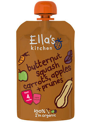 Organic+Vegan,Ella's Kitchen stage 1 Butternut Squash,Carrot,&Apples( 21 x 120g)