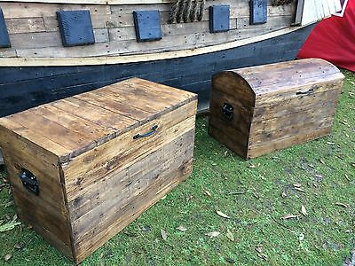 Sea Chest style Storage Chest made with reclaimed wood