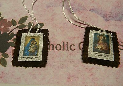 2 inch Brown Wool Scapular -  NEW