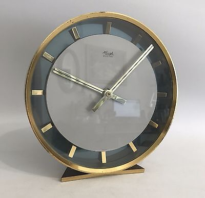 Kienzle Electric Germany Design Tischuhr Messing 60er 70er Table Clock 70s
