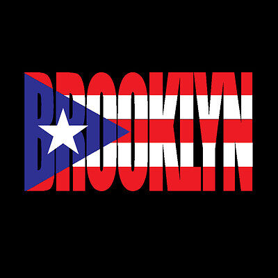 PUERTO RICO CAR DECAL STICKER BROOKLYN letters with Flag  #139