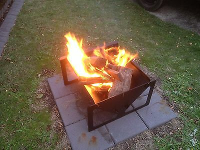CAMPING FLAT PACK FIRE PIT AND BBQ 600 mm