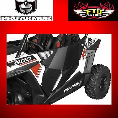 Pro Armor Solar Black Stealth Doors for 2015 RZR 900 Trail/S/XC P159228BL