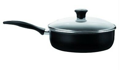 Tefal Invention 26cm Saute Pan & Glass Lid Thermospot Non-Stick Frying Pan