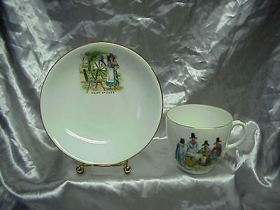Antique Foley China Welsh Tea Party England Cup & Saucer