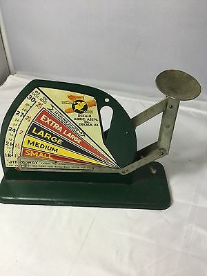 Antique Jiffy Way Dekalb  Egg  Scale Patent Number 2205917