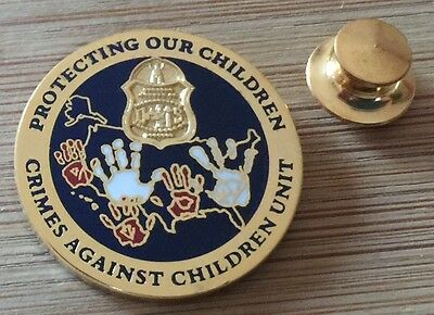 FBI-Federal Bureau of Investigation CAC-Crimes Against Children BADGE lapel pin