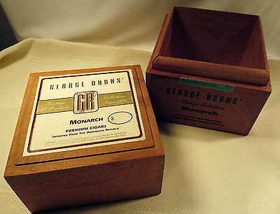Vintage Collection George Burns Monarch Wooden Cigar Box