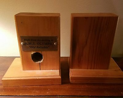 Olympic decking wood bookends