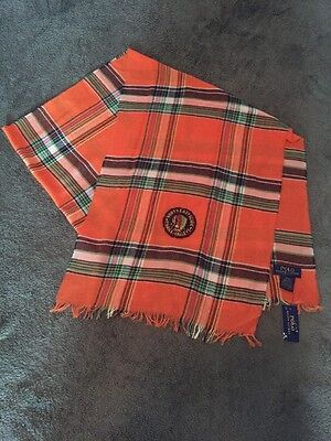 Ralph Lauren Polo Indian Head Patch North East Guide Scarf NWT