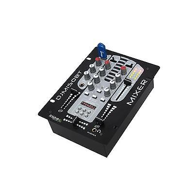 Pro Audio 5-Channel Dj Mixer Bluetooth Usb Mp3 Playback Pa Mic Talk Over - Black