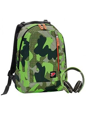 Zaino Reversibile SEVEN THE DOUBLE COLOR CAMOUFLAGE con cuffie #628
