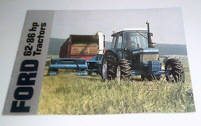 1988 Ford 62-86 Hp Tractor Brochure 5610 6610 6710 7610 7710