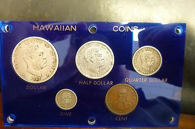 Hawaii Complete Set Coins 1847-1883 Nice In Capitol Plastic