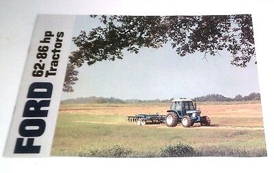1984 Ford 62-86 Hp Tractor Brochure 5610 6610 6710 7610 7710