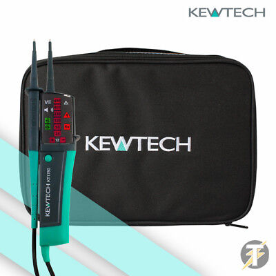 Kewtech KT1780 LED 2 Pole Voltage & Continuity Tester and TK1 Carry Case