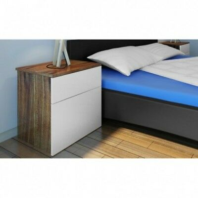 Pair Bedside Tables Country White Wood Cabinets Lamp Stand Bedroom Furniture Set