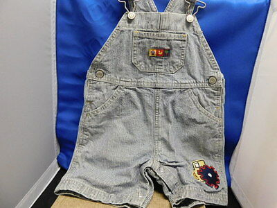Carter's Kids striped blue jean overall shorts size12-18 month