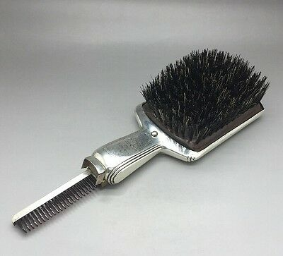 Rare Piece! Sterling Silver Hair Brush With Pop Out Comb! Engraved! 1 Of A Kind!