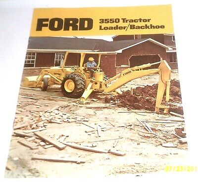1987 Ford Tractor 3550 Backhoe Loader Brochure