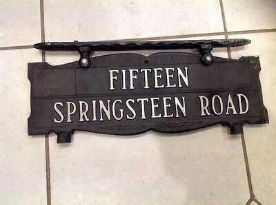 House Number Plaque Sign 15 Springsteen Rd Aluminum