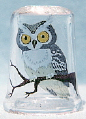 OWL  on Glass Thimble by Lotsa