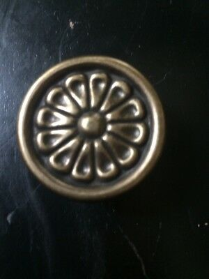 Vintage Look Oil Rubbed Bronze French Provincial Flower Floral Knob Pull Antique