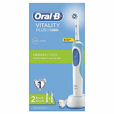 Braun Oral-B Vitality Plus Cross Action Electric Rechargeable Toothbrush