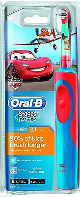 Braun Oral-B Stages Power Car Electric Rechargeable Toothbrush For Kids 3+ Years