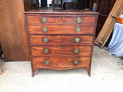 Georgian Mahogany Secretaire Chest of Drawers