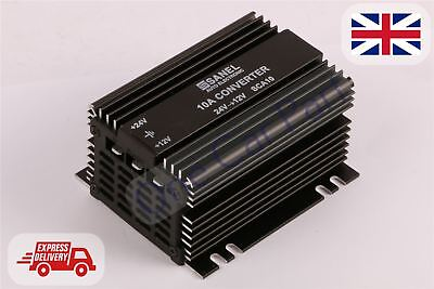 DC 24V to12V Car Truck Bus Step Down Converter Power Inverter Adapter 10A 120W