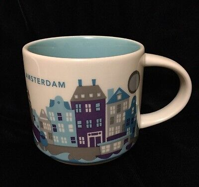 Starbucks Amsterdam Mug YAH Houses Canal Netherlands Coffee Cup You Are Here New