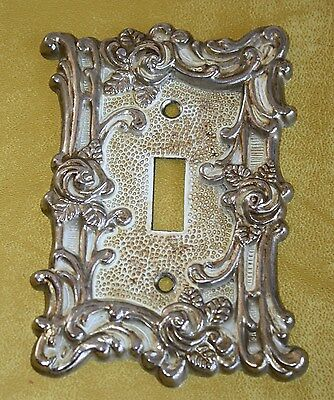 Vtg 1967 American Tack & Hardware Brass Metal Single Switch Plate 75D