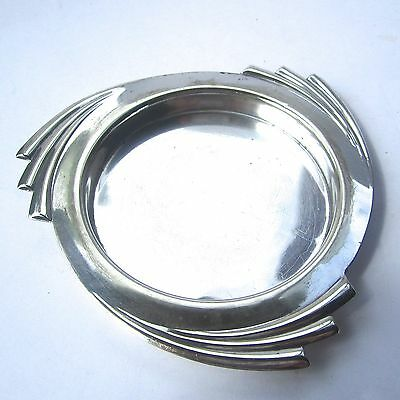 Art Deco Silver Plate Bottle Coaster Stand D 9cm English Wine Spirits 1920/30s