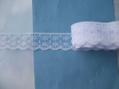 white lace embroidery ribbons DIY craft clothing decoration ingredients 10 yards