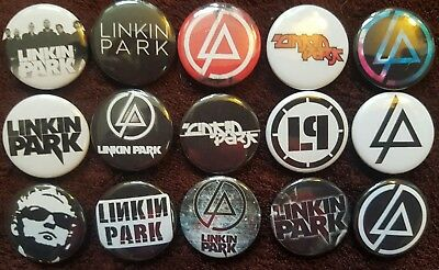 Linkin Park Button Badges x 15. Pins. Wholesale. Collector. Bargain :0)