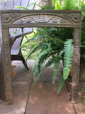 Antique Cast Iron Fireplace Surround High Relief And Detailed