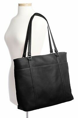 Large Womens Bag for Laptops 15.6 Inches Lady bags pocket for office work Black