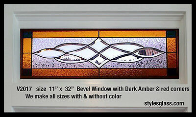 Beautiful Stained glass window/ transom