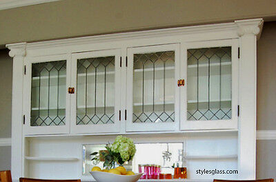 Kitchen Cabinet doors with Heritage Handcrafted glass inserts  all sizes WoW
